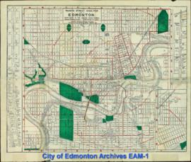 Mundy's Street Index Map to Edmonton
