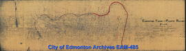 Edmonton Yukon and Pacific Railway Plan of Constructed Line from Strathcona to Edmonton