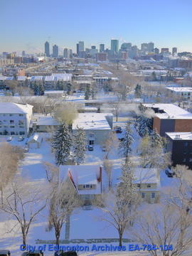 Looking East Towards Downtown Edmonton