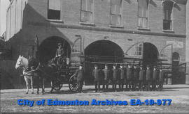 Edmonton Fire Dept.-Horse-Drawn Ladder Truck