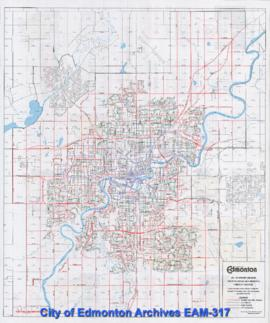 Edmonton Snow Route Guide 1995-96 -- Winter Season Snow Plowing and Removal Priority Routes