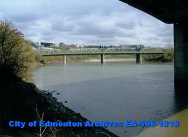 Low Level Bridge from under the Walterdale Bridge on north bank looking east
