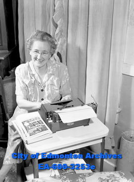 Women's Page: Writer Gladys Clements.