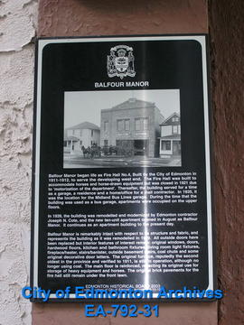 EHB Plaque for Balfour Manor