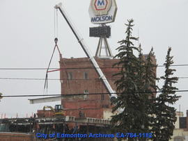 Demolition of Molson's Building - Removing Beams - Image 8 of 17