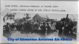 Lord Minto Laying Public School Cornerstone