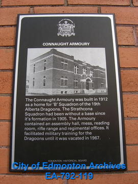 EHB Plaque for Connaught Armoury
