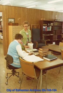 Reference room at the City of Edmonton Archives