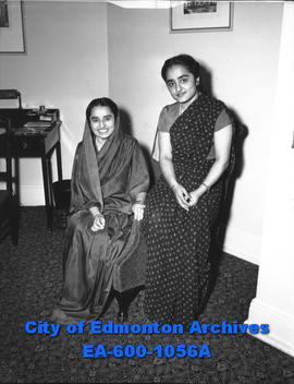 (L-R) Sardarni Malik and Harsimran Malik, the wife and daughter of Hon. Sardar H. S. Malik, India...