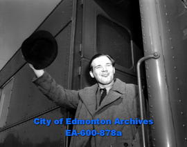 Miners displaced from Europe: Stanislaus Steinberg, Lett miner, arrives in Edmonton.