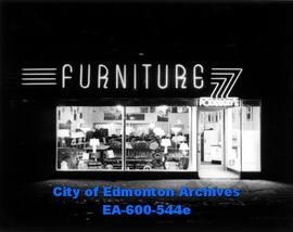 Opening of Podersky's Furniture Store, new South Side Branch, 10422 Whyte Avenue.
