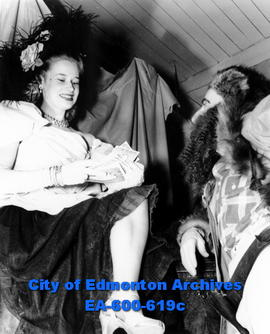 Edmonton So-Ed Club, Klondike Night party at the YMCA: Mrs. E. P. Tannis, left.