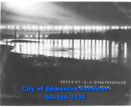High Level Bridge from the Northwest.  Taken at 10 P.M. in September 1932.
