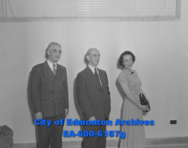 Hudson's Bay Company employees: (L-R) George Saunders, Robert Aikins and Dorothy Dunn.