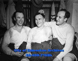 Mel Hill, Chuck McCullough and Sweeney Schriner of the Regina Capitals.