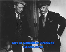 Alberta Farmers Union, 6th  annual convention at the Masonic Temple: (L-R) C. E. Dingman and Fred...