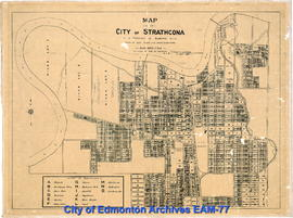 Map of the City of Strathcona, Province of Alberta
