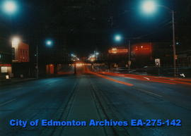 Jasper Avenue -110 Street (east) (colour-night)