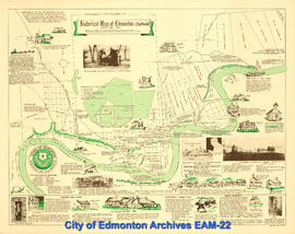 Historical Map of Edmonton (Northside), 1790-1900