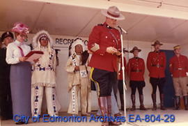 "Official ceremonies of the ""Heritage Day - Scarlet 100"" special event held at Fort Edmo..."