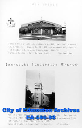 Holy Spirit and Immaculate Conception Catholic Churches Poster