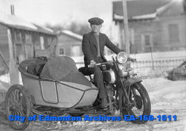 John LeMoignan with Motorcycle