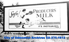 Sign - Milk producers