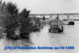 Steamers During Flood of North Saskatchewan River