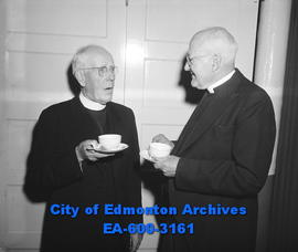 40th anniversary of Robertson United Church: Rev. M.A MacKinnon (right) and Dr. W.G. Wilson.