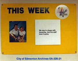 """This Week"" Edmonton Parks and Recreation Department Leisure Centres advertising campaign"