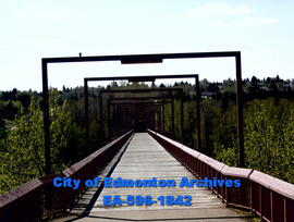 Capilano Pedestrian Bridge from north bank
