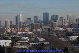 Looking East To Downtown Edmonton