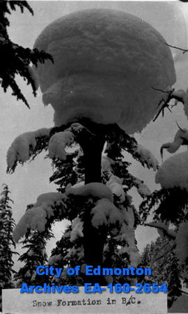 Snow formation in B.C.