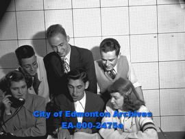 """Eddie Ladret to Head New Vri-Teens Council"". Back Row L-R: Don Collins, Vern Churchman..."