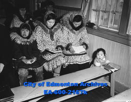 Women's Page - Eskimo Feature: Eskimo Families Gather for Sunday Worship Service