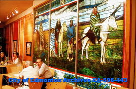 Stained Glass, Indigenous Peoples on Horses
