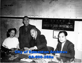 Mrs. Violet Chang Lowe of Shanghai, China in Edmonton visiting her brother, Philip Pon.