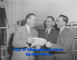 Alberta British Commonwealth Association officer (L-R) Richard Hardie, Stan Dutton and Harry Paull.