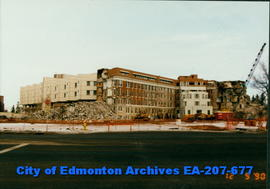 Demolition of old Glenrose Hospital