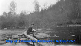 Hubert Hollingworth Fishing at Sturgeon River