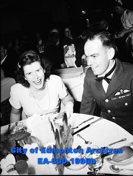 Maritme Provinces Association holds banquet: Flt. Lt. LL.H. Woods and wife.