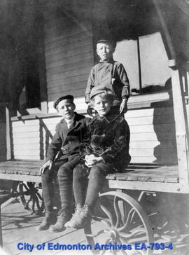 Children on a cart