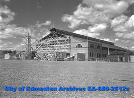 """Exhibition Grounds Get Face Lifting For Fair"".  Edmonton Arena."