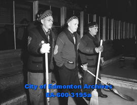 ACT Bonspiel: Michael Frederickson, Leo Johnson, Scotty Moir.