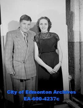 Cecil Goldstick and an unidentified woman [may be Pat Whitton]