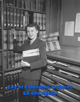 Women's Page - University students: Avery Smith - library student.