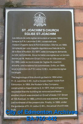 EHB Plaque for St. Joachim's Church