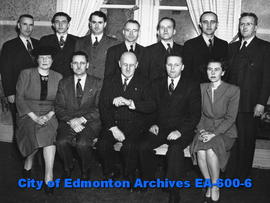 Alberta Teachers Association Executive: Miss Marian Gimby, H. C. Melsness, Dr. H. E. Smith, E. T....