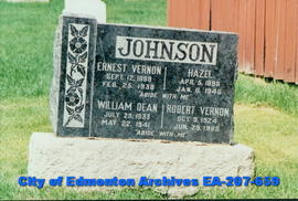 Gravestone - Johnson family