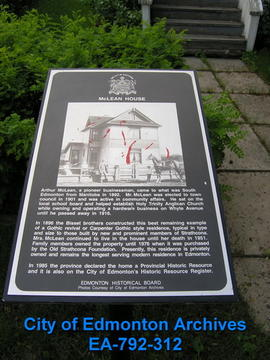 EHB Plaque for the McLean House